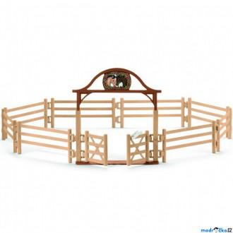 Ostatní hračky - Schleich - Jezdecký klub, Ohrada pro koně se vstupní branou