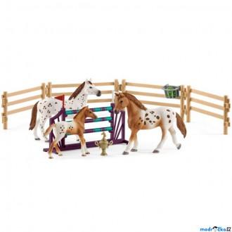 Ostatní hračky - Schleich - Jezdecký klub, Appalosští koně a tréninkové příslušenstí