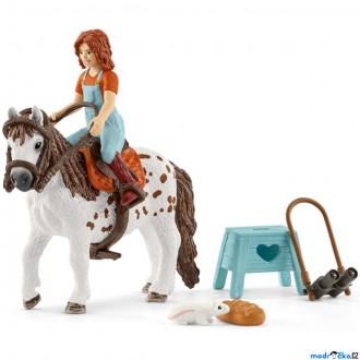 JIŽ SE NEPRODÁVÁ - Schleich - Kůň s jezdcem, Malá sestra na shetlandskem poníku
