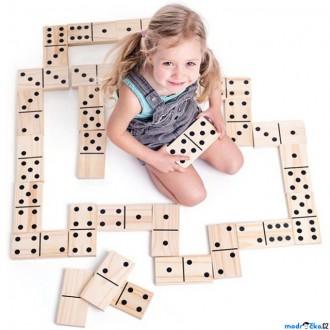 Dřevěné hračky - Domino - Maxi dřevěné zahradní, 28ks (Woody)