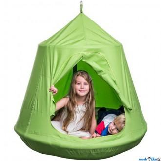 Na ven a sport - Houpačka - Ptačí hnízdo zelené, závěsný stan (Woody)