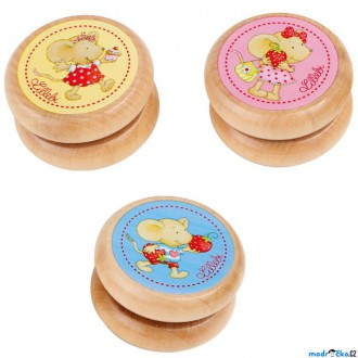Dřevěné hračky - Drobné hračky - Jojo myška Lillebi, 1ks (Legler)