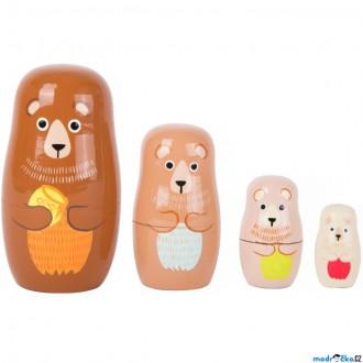 Dřevěné hračky - Dřevěná hračka - Matrjoška, Medvědí rodina (Legler)