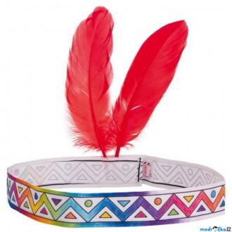 Ostatní hračky - Malování na textil - Indiánská čelenka (Goki)