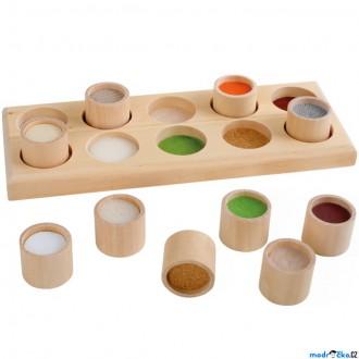 Dřevěné hračky - Didaktická pomůcka - Hmatová hra na desce, 10 dílů (Legler)