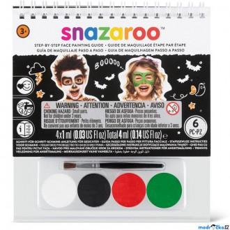 Ostatní hračky - Snazaroo - Sada 4 barev na obličej, Halloween