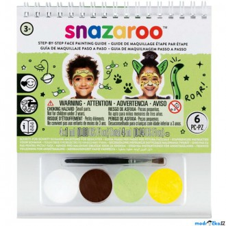 Ostatní hračky - Snazaroo - Sada 4 barev na obličej, Mix