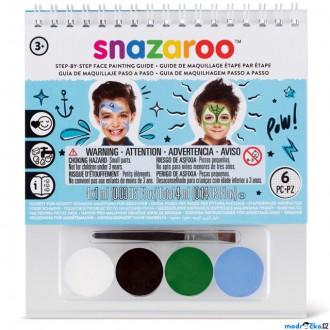 Ostatní hračky - Snazaroo - Sada 4 barev na obličej, Chlapci