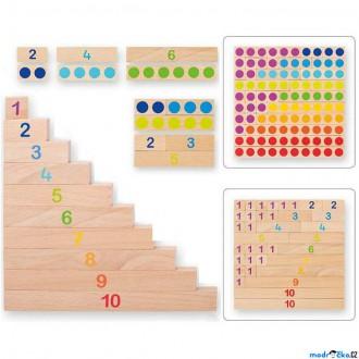 Dřevěné hračky - Školní pomůcka - Počítací dřevěné destičky (Goki)