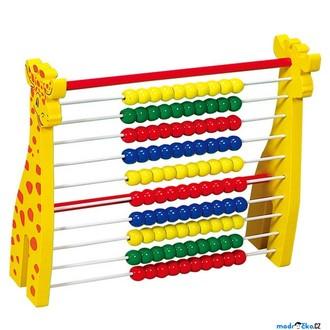 Dřevěné hračky - Počítadlo - Žirafa (Woto)