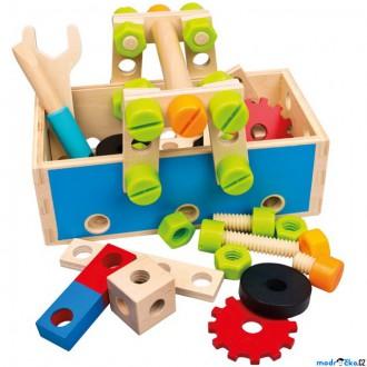 Dřevěné hračky - Malý kutil - Šroubovací přepravka s nářadím (Mertens)