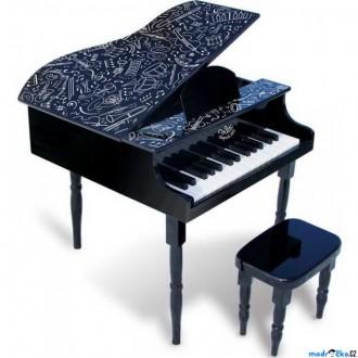 Dřevěné hračky - Hudba - Klavír dětský, Grand piáno černé (Vilac)