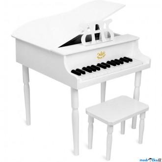 Dřevěné hračky - Hudba - Klavír dětský, Grand piáno bílé (Vilac)