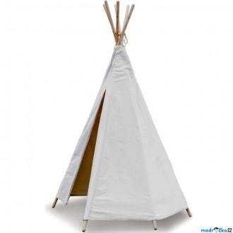 Na ven a sport - Indiánský stan - Dětské Teepee bílé (Vilac)