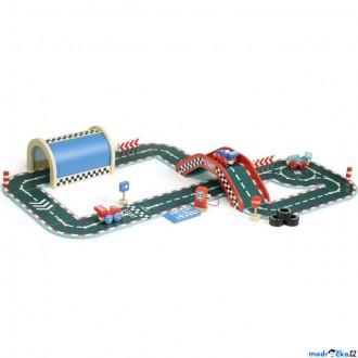Dřevěné hračky - Autodráha - Dřevěná Vilacity velký závod (Vilac)