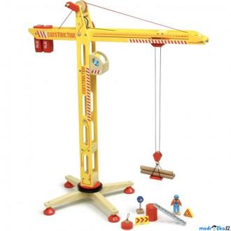 Dřevěné hračky - Jeřáb - Velký dřevěný s příslušenstvím (Vilac)