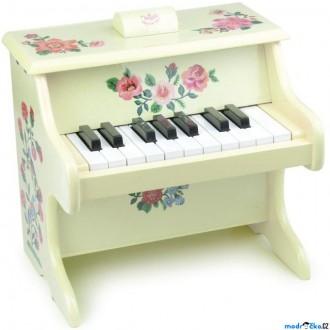 Dřevěné hračky - Hudba - Klavír dětský, S květy (Vilac)