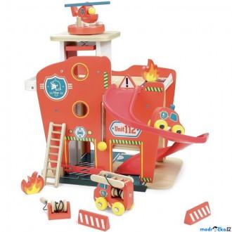 Dřevěné hračky - Hasičská stanice - Vilacity dřevěná (Vilac)