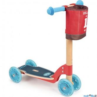Na ven a sport - Koloběžka - Dřevěná s gumovými koly (Vilac)