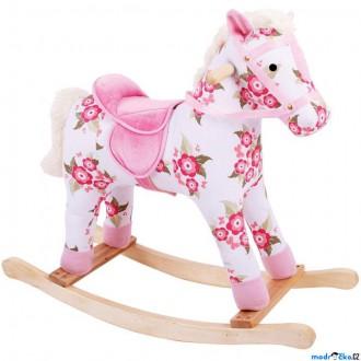 Dřevěné hračky - Houpadlo - Houpací kůň, S květy (Bigjigs)
