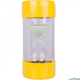 Dřevěné hračky - Přesýpací hodiny - Velké 3 minuty žluté (Bigjigs)