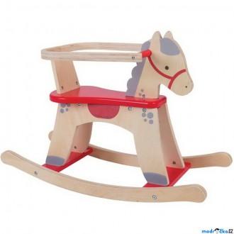 Dřevěné hračky - Houpadlo - Houpací kůň s ohrádkou, Koník (Bigjigs)