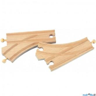 Vláčkodráhy - Vláčkodráha koleje - Výhybka standartní, 2ks (Maxim)