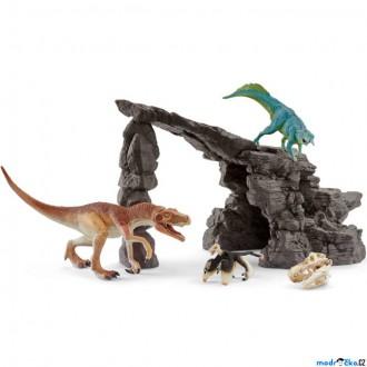 Ostatní hračky - Schleich - Dinosaurus set, Jeskyně s dinosaury