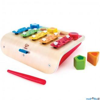 Dřevěné hračky - Hudba - Xylofon, S vkládáním tvarů (Hape)