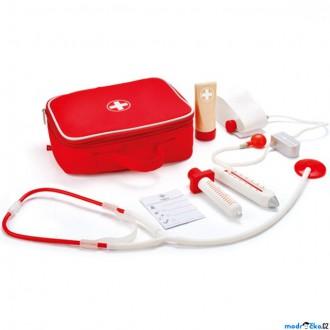 Dřevěné hračky - Doktor - Set v kufříku, Lékař (Hape)