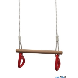 Na ven a sport - Hrazda - Dřevěná na laně s kruhy (Legler)