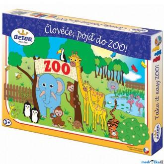 Dřevěné hračky - Společenské hry - Člověče, pojď do ZOO! (Detoa)