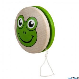 Dřevěné hračky - Drobné hračky - Jojo Žabka, zelené (Detoa)