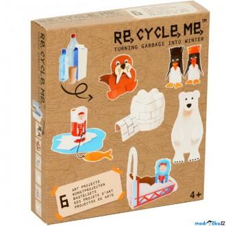 Dřevěné hračky - Kreativní sada - Re-cycle-me, Zimní