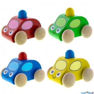 Dřevěné hračky - Auto - Pískací s majákem, 1ks (Detoa)