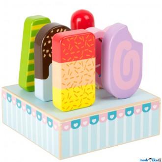 Dřevěné hračky - Dekorace prodejny - Nanuky dřevěné ve stojanu (Legler)