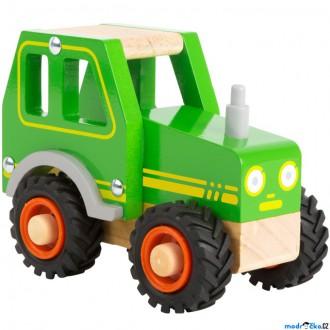 Dřevěné hračky - Auto - Traktor zelený dřevěný (Legler)