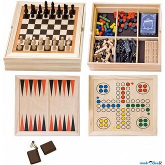 Dřevěné hračky - Společenské hry - Velký soubor her (Woody)