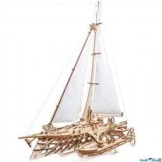Stavebnice - 3D mechanický model - Loď Trimaran Merihobus (Ugears)