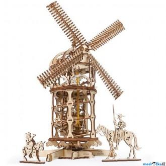 Stavebnice - 3D mechanický model - Větrný mlýn (Ugears)