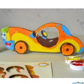 Dřevěné hračky - 3D model k vybarvení - Auto (Ugears)