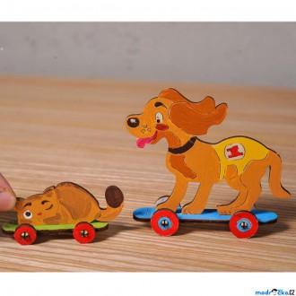 JIŽ SE NEPRODÁVÁ - 3D model k vybarvení - Kitty a Puppy (Ugears)