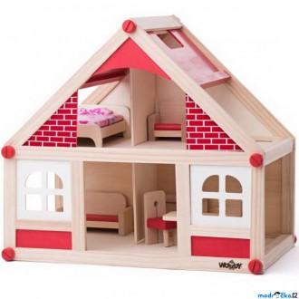 Dřevěné hračky - Domeček pro panenky - Malý s příslušenstvím (Woody)