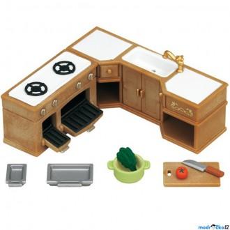 Ostatní hračky - Sylvanian Families - Nábytek, Rohová kuchyňská linka s vybavením