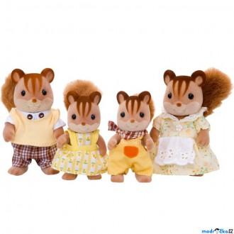 Ostatní hračky - Sylvanian Families - Rodina veverek oříškových, 4ks