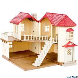 Nedřevěné hračky - Sylvanian Families - Domeček, Městský dům se světly patrový