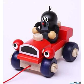 Dřevěné hračky - Auto montážní - Krtek a mrkací auto (Detoa)