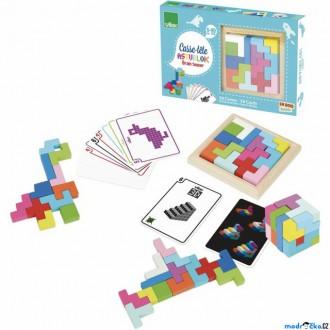 Puzzle a hlavolamy - Hlavolam dřevěný - 3D tangram barevný (Vilac)