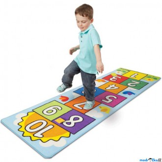 Dřevěné hračky - Dětský koberec - Skákací panák + 2 házecí pytlíky (M&D)