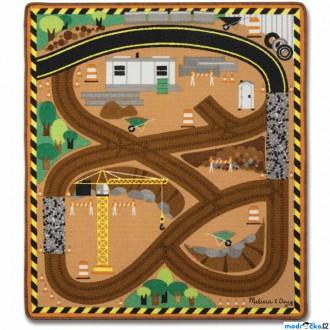 Dřevěné hračky - Dětský koberec - Stavba + 3 dřevěné autíčka (M&D)